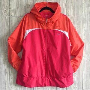 Reebok 2XL Red Pink Windbreaker Jacket